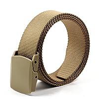 ALAIX Canvas belt for Men & Women Breathable Web Military Tactical Adjustable Belt with Double Plastic Buckle
