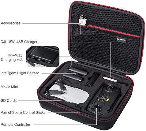 MOMINPET Hard Shell Carrying Case Compatible with DJI Mavic Mini 2 Drone Travel Box Protector Remote Controller Storage Bag Accessories