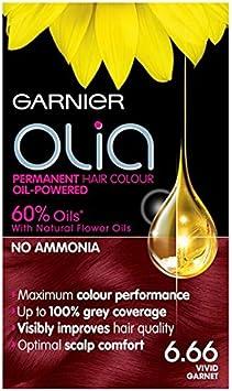 Tinte para el pelo Garnier, color granate vívido, Garnier ...