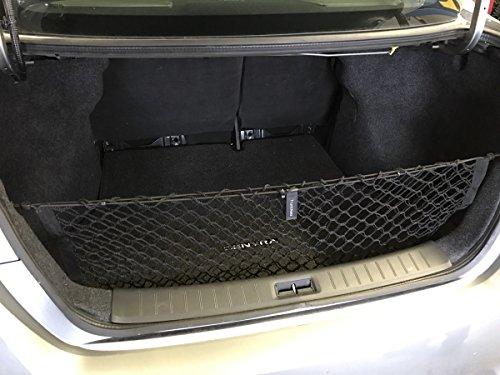 Envelope Style Trunk Cargo Net + Installation Kit for Nissan Sentra 2013 2014 2015 2016 2017 2018