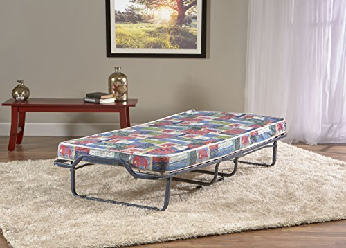 Deluxe Firenze Folding Rollaway Guest Bed with Memory Foam 4-inch Mattress