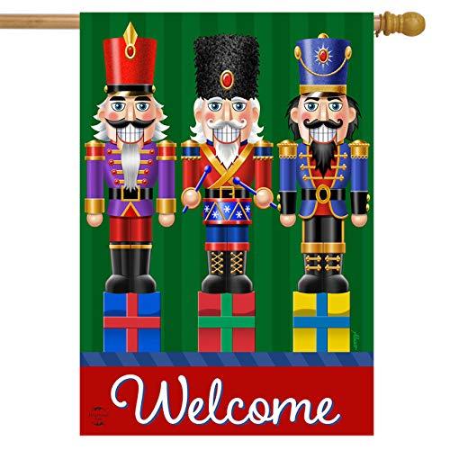 Briarwood Lane Holiday Nutcrackers Welcome House Flag Christmas 28