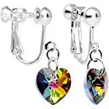 #9: Body Candy Handcrafted Heart Clip Earrings Created with Swarovski Crystals