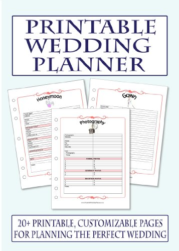 Printable Wedding Planner CD-ROM: Amazon.co.uk: Office Products