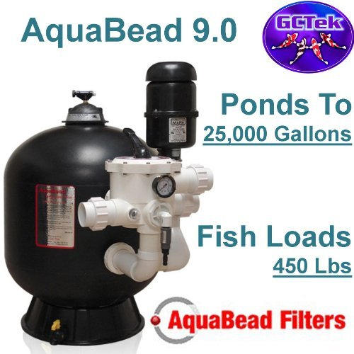 GC Tek AquaBead 9.0 Bead Filter AB9.0 - For Ponds To 25,000 Gallons And Fish Loads To 450 (Bead Pressure Filter)