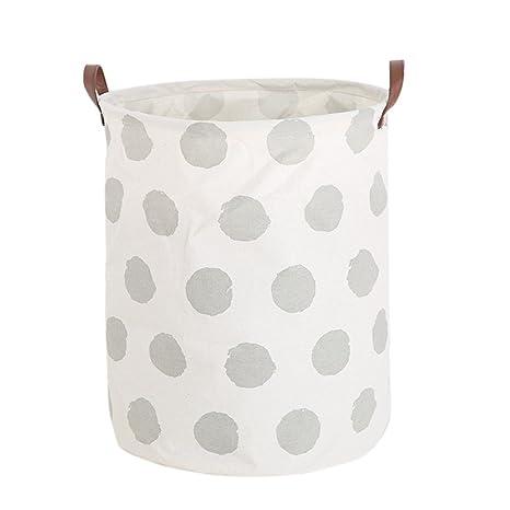 Sencillo Vida Cesto para Guardar Ropa Sucia Impermeable Plegable Cajas de almacenaje Cestas de algodón Lino