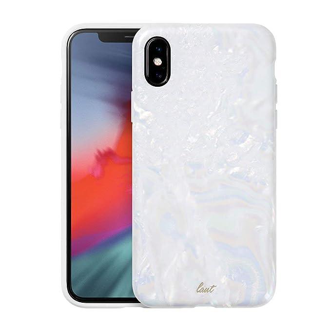 the best attitude fc0c5 cda25 Amazon.com: LAUT - POP Arctic Pearl case for iPhone X with Anti ...
