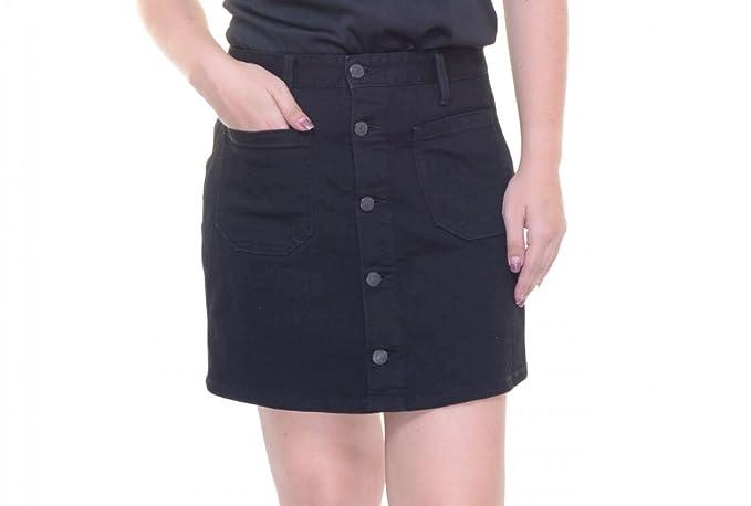 fa08de3012 Denim & Supply Ralph Lauren Womens Emilie Button Front Mini Denim Skirt  Black 29
