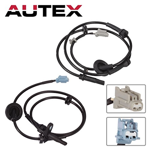 AUTEX 2PCS ABS Wheel Speed Sensor Front Left & Right ALS286 ALS290 For 2004 2005 2006 2007 2008 Nissan Murano 3.5L (Front Sensor Wheel)