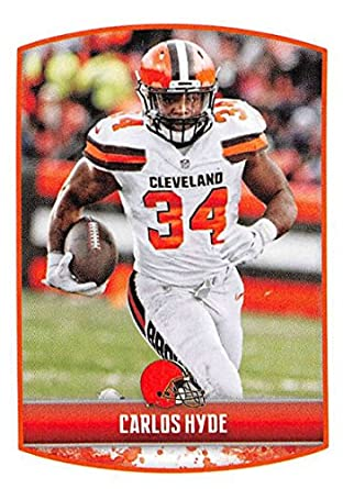 a505f1efcd4 2018 Panini NFL Stickers Collection  103 Carlos Hyde Cleveland Browns  Official Football Sticker