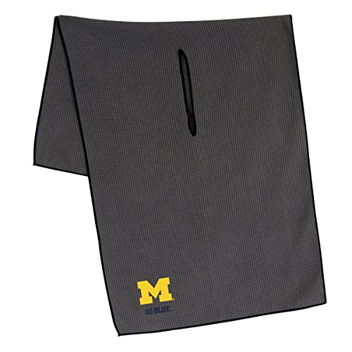 Michigan Wolverines Embroidered Towel - Team Effort Michigan Wolverines Grey Microfiber Towel
