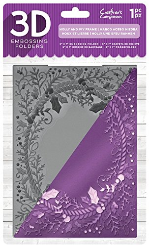 Die'sire EF5-3D-X-HOL 3D Embossing Folder, Clear Crafter' s Companion