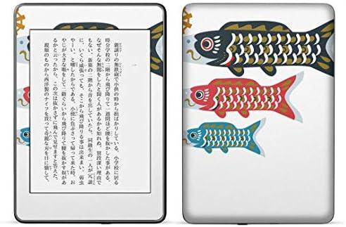 igsticker kindle paperwhite 第4世代 専用スキンシール キンドル ペーパーホワイト タブレット 電子書籍 裏表2枚セット カバー 保護 フィルム ステッカー 015287 こどもの日 鯉のぼり 兜 熊