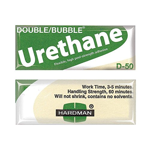 Hardman/Kalex #04022 - Double Bubble Urethane Adhesive Green/Beige-Label D50 High Shear Strength - 10-Pack by double bubble (Image #1)