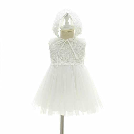 Amazon.com: Baby Girl Dress Christening Baptism Gowns Flower Girl ...