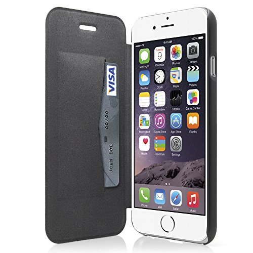Diary by iLuv - Premium PU Leather Wallet Case with 1 Credit Card Slot Behind Cover - Secure hold with PC Interior Shell (Super Slim) (Made for Apple iPhone 6 Plus & iPhone 6S Plus)