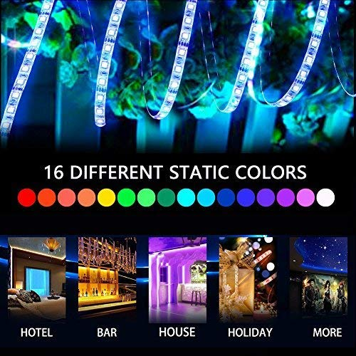 LEN Led Strip Lights 16.4 Feet Waterproof 150LEDs 5050 RGB Light Strip Complete Kit by LEN (Image #2)