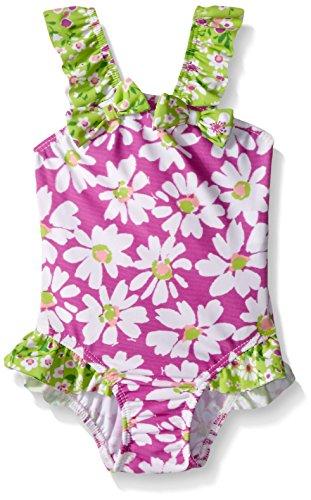 Flap Happy Baby UPF 50+ Malia V-Back Swimsuit , Daisy Jane, 24 Months