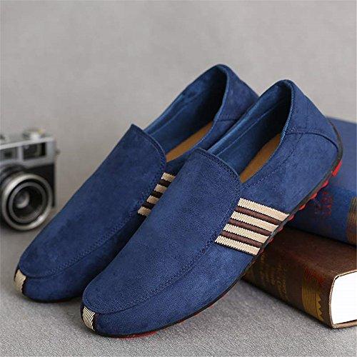 En Sommar Mens Lätta Andas Avslappnad Stil Duk Loafers Blå