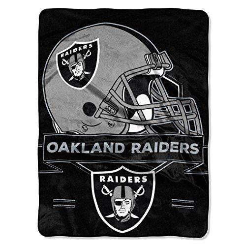 Northwest 0807 Radiers NFL Oakland Raiders Prestige Plush Raschel Blanket, 60