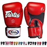 Fairtex Gloves Muay Thai Boxing Sparring Size 12 Oz in Black, Blue, Red, White, Classic Brown, Emerald Green, and More