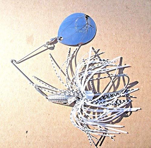 Strike 1ct Chrome White SHAD 1oz Pro Colorado BB SPINNERBAIT Bass Fishing Spinnerbaits