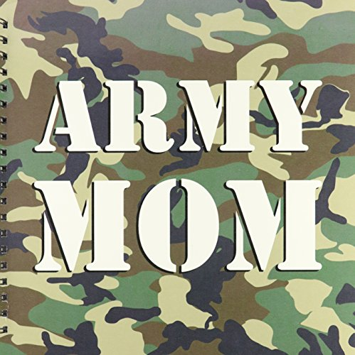 (3dRose db_15405_2 Army Mom Green Camouflage-Memory Book, 12 by 12-Inch)