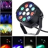 Cuque LED Par Light EBTOOLS 12 LED Stage Light with RGBW Color, DMX, Strobe and Sound Active Mode