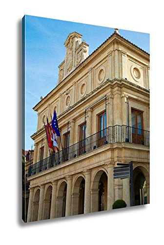Ashley Canvas Ayuntamiento De Leon City Town Hall At Castilla Of Spain, Wall Art Home Decor, Ready to Hang, Color, 20x16, AG5479411 by Ashley Canvas