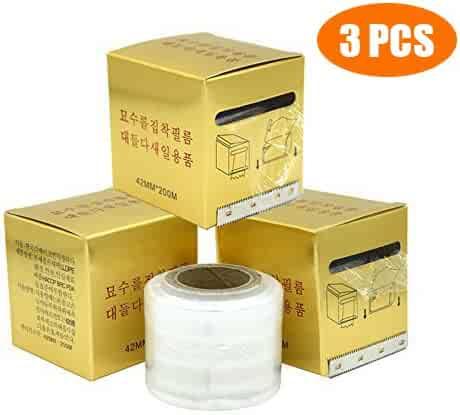3 PCS Disposable Eyebrow Tattoo Plastic Wrap Preservative Film,Make Up Supplies Wrap Cover Tape Roll