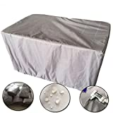 QEES Outdoor Garden Waterproof Cover 210D Oxford Cloth Tables Chairs Furniture Dust Cover Thick and Durable Machine Equipment Sets Grill Components Cover JJZ13 (845229inch)