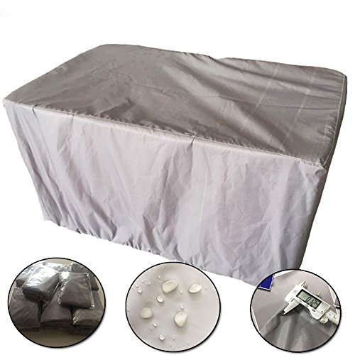 QEES Outdoor Garden Waterproof Cover 210D Oxford Cloth Tables Chairs Furniture Dust Cover Thick and Durable Machine Equipment Sets Grill Components Cover JJZ13 (845229inch) by QEES