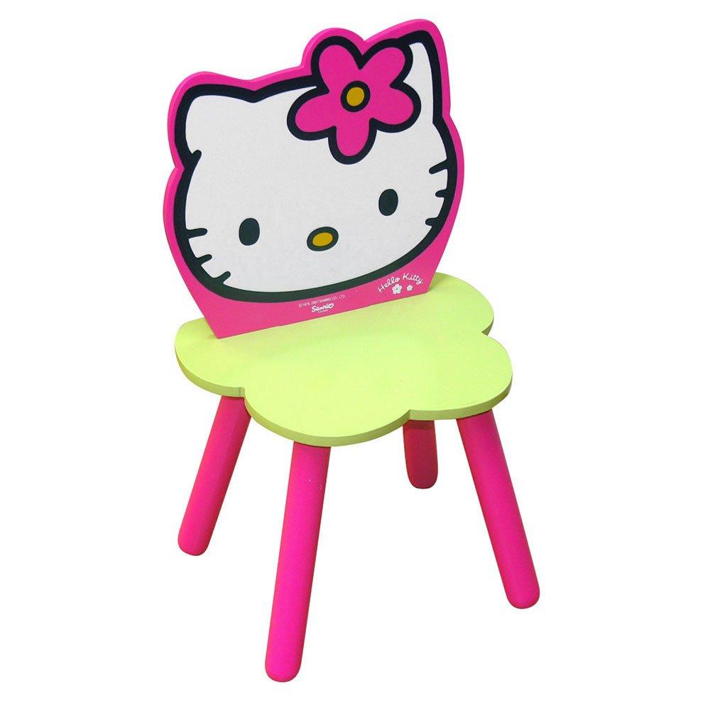 Pers.Cartoon Hello Kitty Lar-Seggiolina C/Schienale Cm.30X35X60 Legno Import 711165