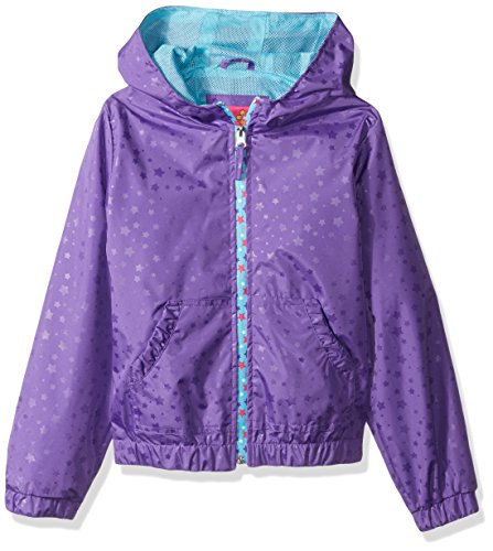 Pink Platinum Big Girls' Heat Stamp Active Jacket with Mesh Lining, Lilac,