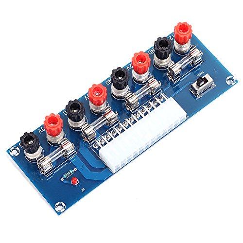 Icstation Benchtop Power Board 24 Pin Computer ATX Power Supply Breakout Adapter Module 12V 5V -