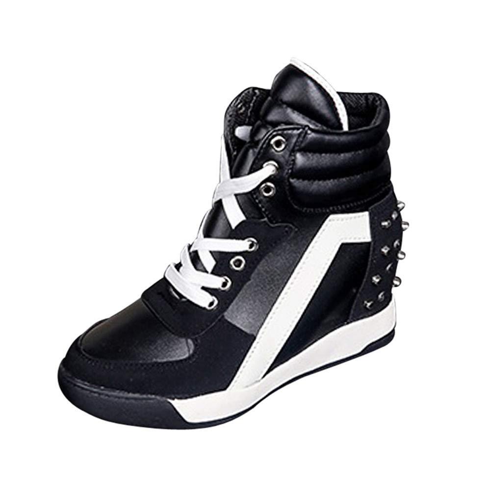 Amazon.com: U-MAC Zapatillas de cuña alta para mujer ...