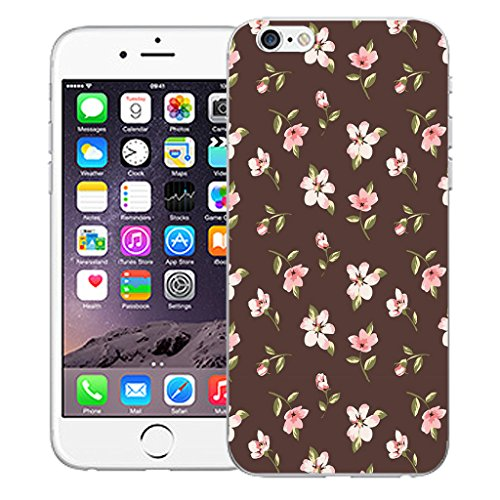 "Mobile Case Mate iPhone 6S 4.7"" Silicone Coque couverture case cover Pare-chocs + STYLET - Herbaceous pattern (SILICON)"
