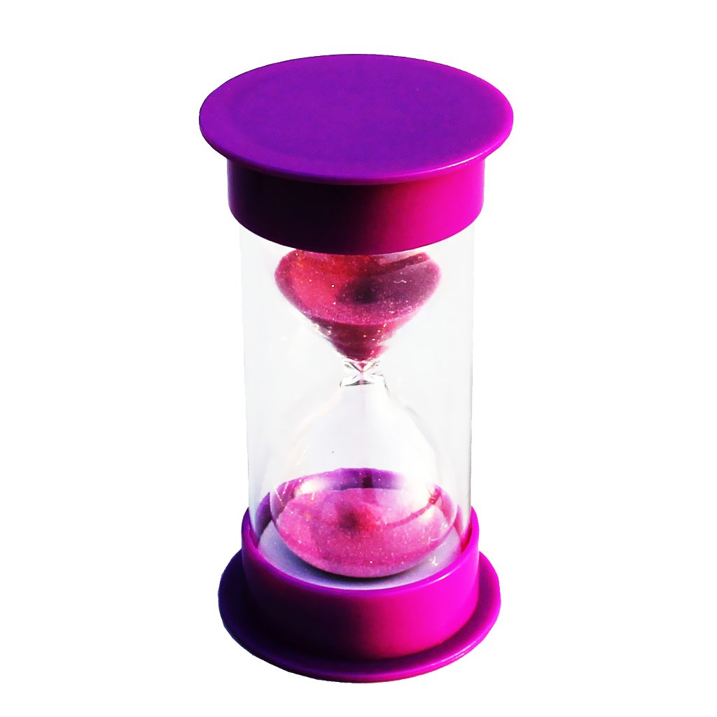MagiDeal 1 Minutes Hourglass Timer Purple Lid & Sand STK0157001601