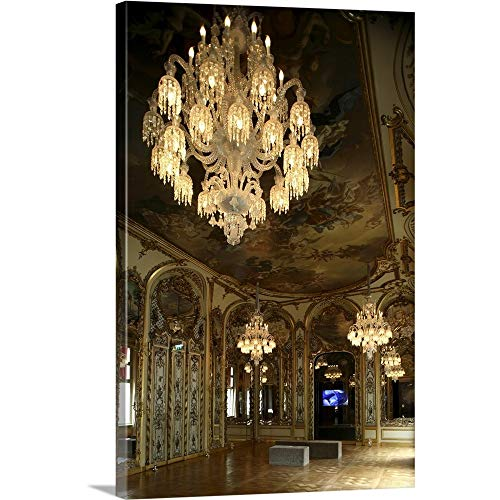 GREATBIGCANVAS Gallery-Wrapped Canvas Entitled Crystal Chandeliers in The Main Hall of Galerie-Musee Baccarat, Paris, France by Bruce Yuanyue Bi 24