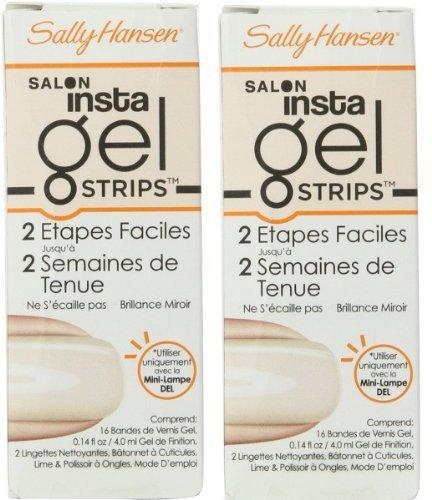 (Pack of 2) Sally Hansen Salon Insta Gel Strips,Sheer Ecstasy , 16 Polish (Insta Gel Strips)