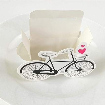 50 piezas de bicicleta en forma de gragea, caja de regalo de ...