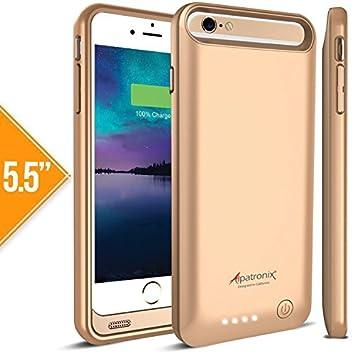 b37c6391e81 Alpatronix - Carcasa con Batería para iPhone 6 Plus (Con Certificación  MFi), Protectora, Ultra-Delgada BX140plus para ...