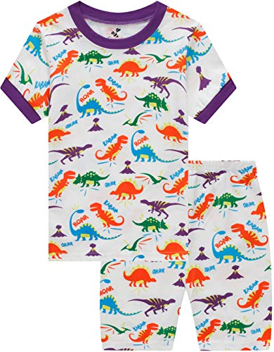 - Pajamas for Boys Baby Dinosaur Clothes Kids Summer Short Pj Set Children 2 Pieces Sleerwear 6t