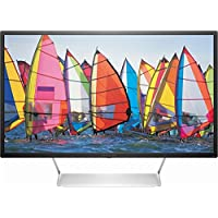 HP Pavilion 32 LED QHD Monitor (2018 New) - Black with Silver stand
