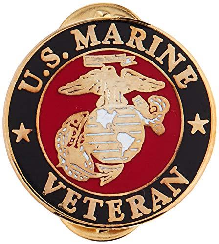 EagleEmblem United States Marine Veteran Logo Emblem Lapel / Hat Pin