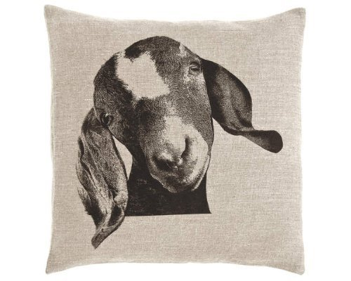 l Billy Decorative 1879 Cotton Linen Square Throw Pillow Case Cushion Cover 18 x 18 Inches ()