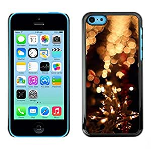 YOYO Slim PC / Aluminium Case Cover Armor Shell Portection //Christmas Holiday Lights 1102 //Apple Iphone 5C