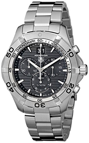 - TAG Heuer Men's CAF101E.BA0821 Aquaracer Black Dial Watch