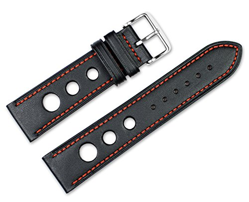 22mm-replacement-leather-watch-band-leather-grand-prix-black-w-red-stitching-watch-strap