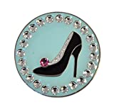 Navika Stiletto Ball Marker adorned with Swarovski Crystals with Magnetic Hat Clip